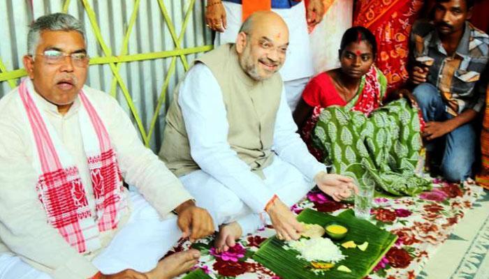 अमित शाह को भोज कराने वाले आदिवासी दंपति ने थामा तृणमूल का दामन, भाजपा ने बताया 'बदले की राजनीति'