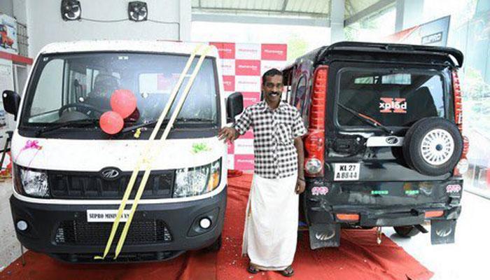 जानें क्यों, केरल के ऑटोरिक्शा ड्राईवर को आनंद महिंद्रा ने गिफ्ट की ब्रांड न्यू 4 व्हीलर महिंद्रा