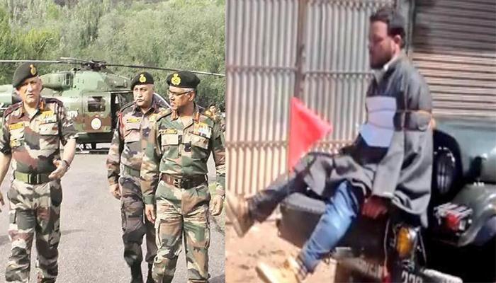 कश्मीर में पत्थरबाज युवक को जीप में बांधने वाले मेजर लीतुल गोगोई को सेना प्रमुख जनरल बिपिन रावत ने किया सम्मानित