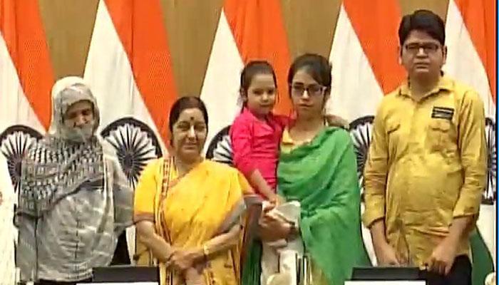 उजमा की वापसी: सुषमा ने पाकिस्तानी विदेश और गृह मंत्रालय को कहा 'शुक्रिया', जस्टिस अख्तर कयानी का भी ज़िक्र किया