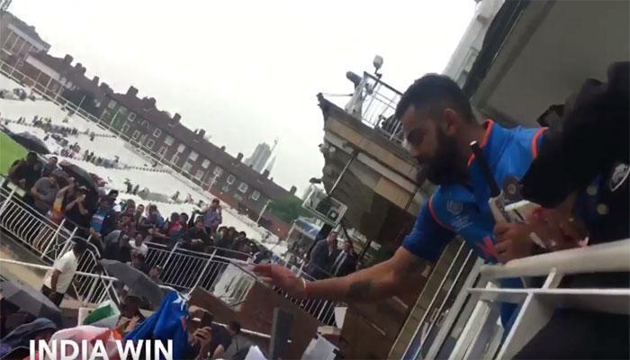 VIDEO : न्यूजीलैंड से वार्मअप मैच जीतने के बाद विराट कोहली ने ऐसे जीता फैंस का दिल