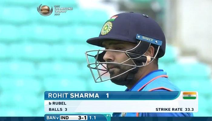 चैंपियंस ट्रॉफी IND vs BAN : चोट के बाद मैदान में उतरे रोहित शर्मा तीन गेंदों में पैवेलियन लौटे
