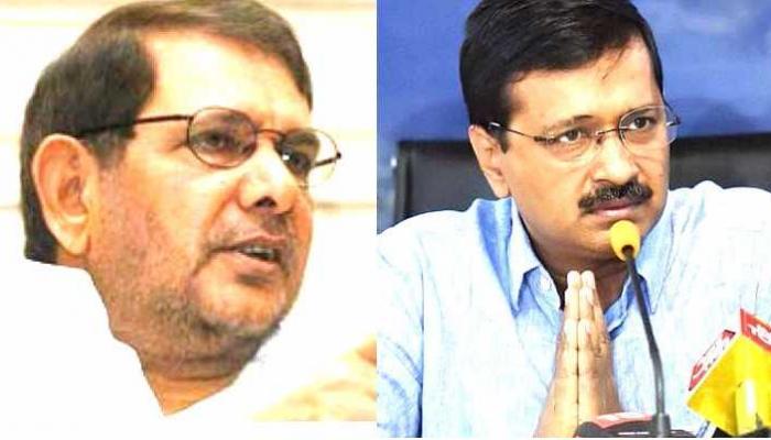 राष्ट्रपति चुनाव : केजरीवाल से मिले जेडीयू नेता शरद यादव