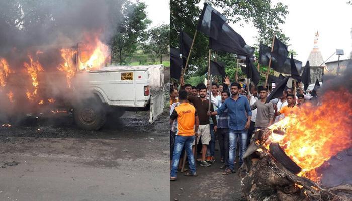 महाराष्ट्र: जमीन आंदोलन के खिलाफ किसानों का हिंसक हुआ आंदोलन, कई गाड़ियां फूंकीं