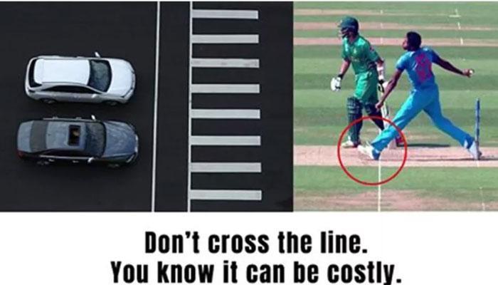 बुमराह की नो बॉल वाली तस्वीर बनी सड़क सुरक्षा का विज्ञापन, 'लाइन क्रॉस करना पड़ सकता है महंगा'