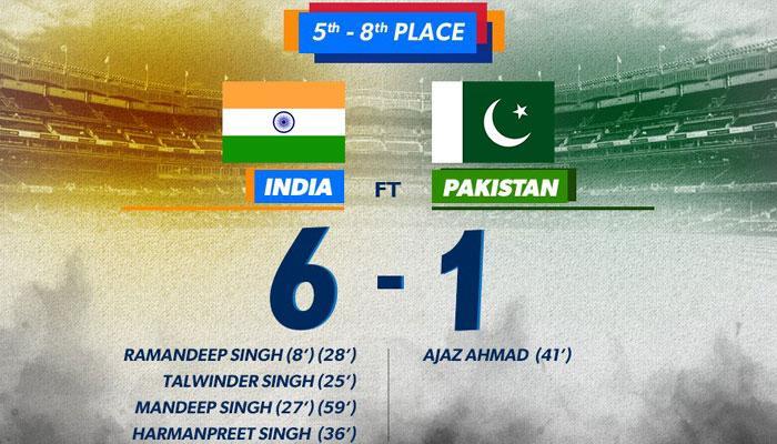 वर्ल्ड लीग सेमीफाइनल्स: पाकिस्तान के ख़िलाफ़ भारत की दूसरी जीत, इस बार 6-1 से रौंदा