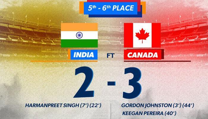 वर्ल्ड हॉकी लीग में भारत को मिला छठा स्थान, कनाडा ने 3-2 से हराया