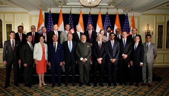 प्रधानमंत्री मोदी ने यूएस कंपनियों के सीईओ से भारत में निवेश को कहा, जीएसटी को बताया 'गेमचेंजर'