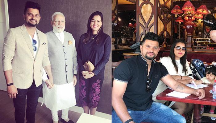 कुछ यूं हुई पीएम मोदी से हुई सुरेश रैना और उनकी पत्नी प्रियंका की मुलाकात
