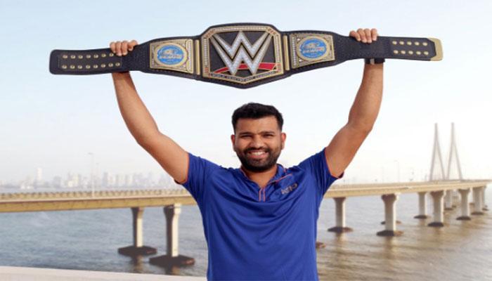 टीम इंडिया के सलामी बल्लेबाज रोहित शर्मा बन गए नए WWE चैंपियन, हाथों में थामी चैंपियनशिप बेल्ट