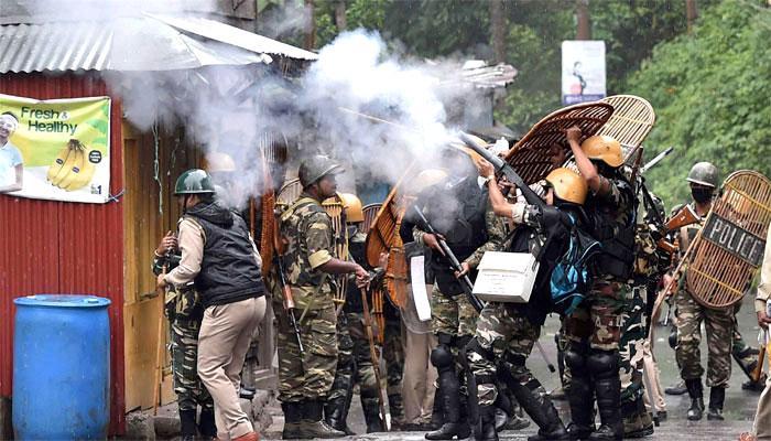 दार्जिलिंग से सेना की वापसी, फिर हुयी हिंसा