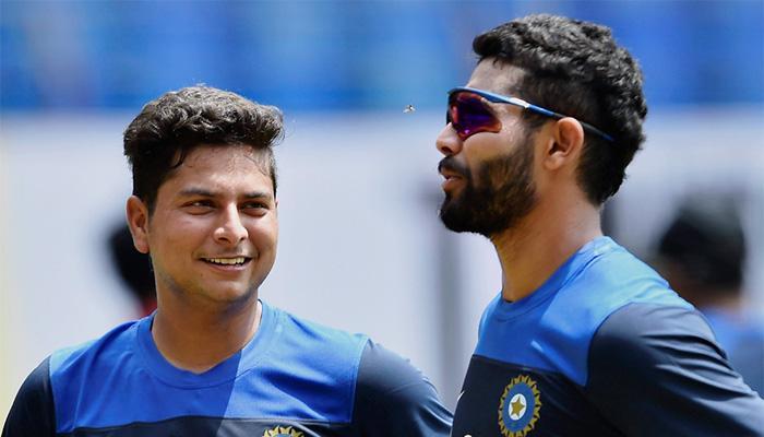 'चाइनामैन' कुलदीप यादव और रवींद्र जडेजा ने श्रीलंका XI को 187 पर किया ढेर