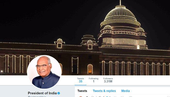 राष्ट्रपति रामनाथ कोविंद ट्विटर पर सिर्फ 1 को करते हैं फॉलो!