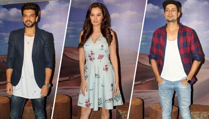 Karan Kundra, Evelyn Sharma and Sumeet Vyas promote `Stupid Man Smart Phone` web-series