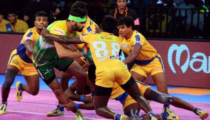 प्रो कबड्डी लीग: पटना पाइरेट्स की घर में तमिल थालइवाज पर रोमांचक जीत