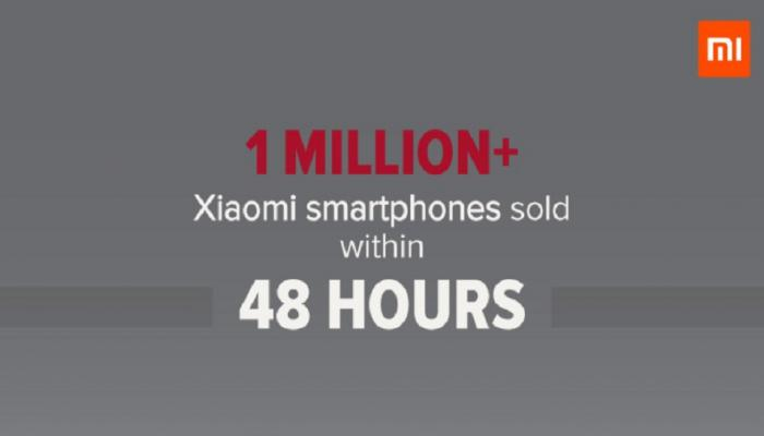 Xiaomi के महज 48 घंटे में बिके 10 लाख से ज्यादा स्मार्टफोन