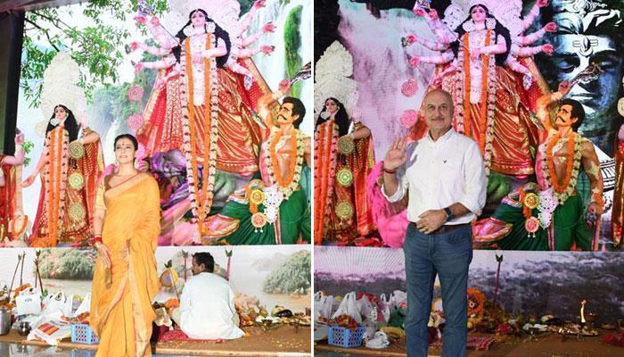 Kajol and other celebs visit Durga Puja Pandal in Mumbai