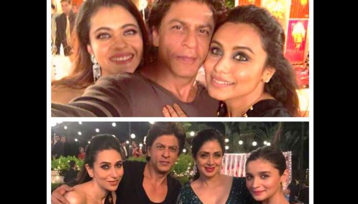 शाहरुख खान ने शेयर की काजोल रानी मुखर्जी और करिश्मा कपूर के साथ तस्वीर, कहा...