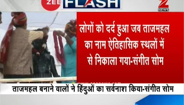 Taj Mahal a blot on Indian culture: BJP MLA Sangeet Som
