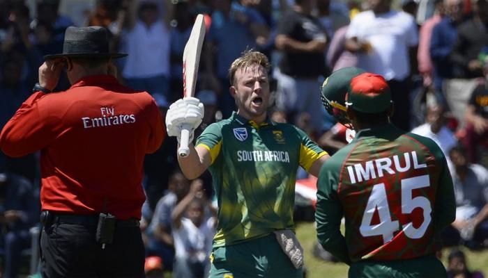 AUS vs BAN: डिविलियर्स का तूफानी शतक, दक्षिण अफ्रीका ने बांग्लादेश को हराकर जीती सीरीज