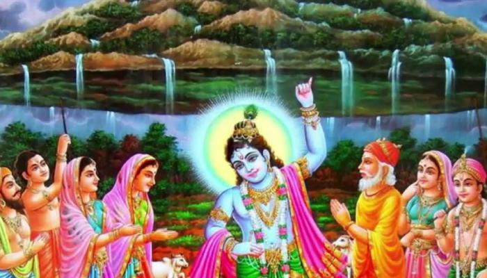 गोवर्धन पूजा: देवता इंद्र के घमंड को तोड़ने के लिए श्री कृष्ण ने उठा लिया था पर्वत