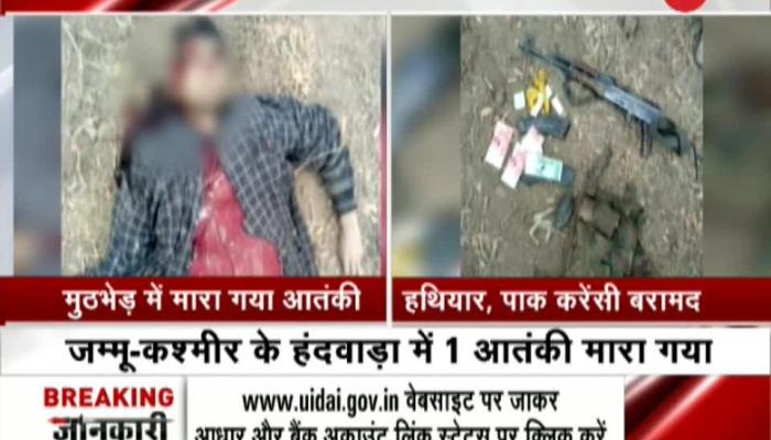 Pak currency recovered from terrorist killed in Handwara encounter
