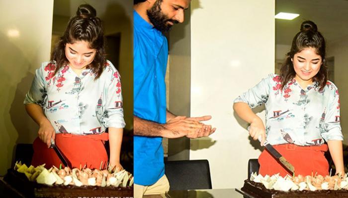 आमिर खान के बिना 'सीक्रेट सुपरस्टार' जायरा वसीम ने काटा अपना बर्थडे केक, देखें PICS