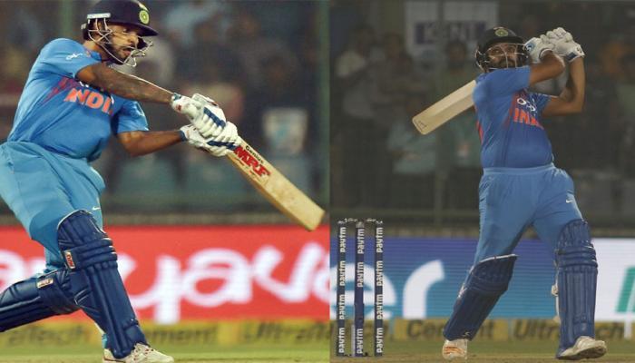 VIDEO : धवन-रोहित की ताबड़तोड़ बल्लेबाजी, हवा हुआ सहवाग-विराट का 10 साल पुराना रिकॉर्ड