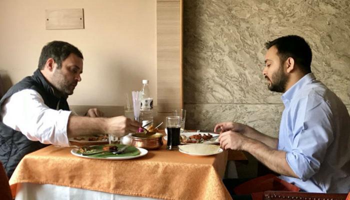 राहुल के साथ लंच हमने किया और हाजमा आपका खराब है: तेजस्वी का JDU पर तंज
