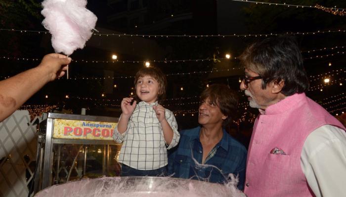 बिग बी को 'दादा' समझते हैं शाहरुख खान के नन्ने अबराम, देखें PICS