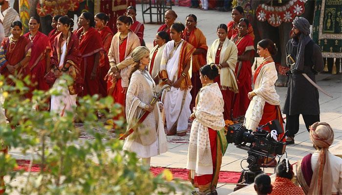 Kangana Ranaut at `Manikarnika: The Queen of Jhansi` shoot in Jaipur