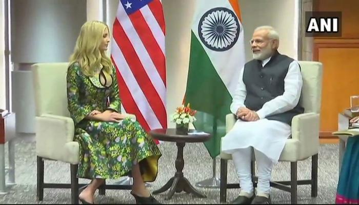 GES 2017: उद्घाटन से पहले इवांका ट्रंप ने प्रधानमंत्री मोदी से की मुलाकात