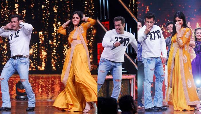 Salman Khan dancing on Chikni Chameli with Katrina Kaif at Dance India Dance promotes Tiger Zinda Hai