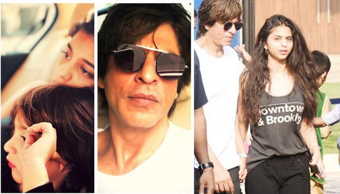 After attending AbRam's annual day function, Shah Rukh Khan hangs out with daughter Suhana
