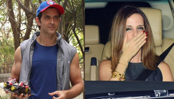Ex wife Sussanne Khan at Hrithik Roshan's birthday bash