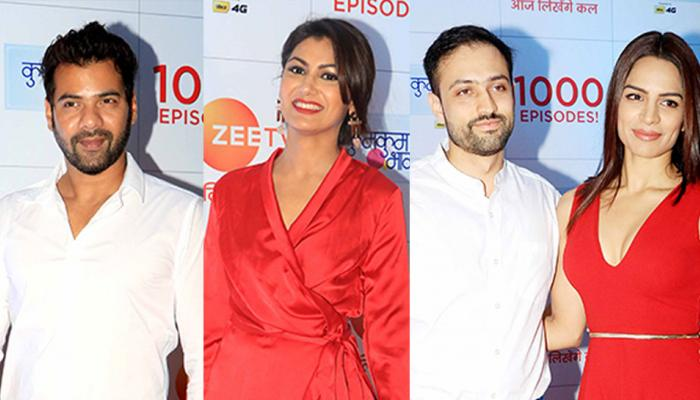 Kumkum Bhagya 1000 episode celebrations Sriti Jha, Mrunal Thakur, Shikha Singh make it a sea of red