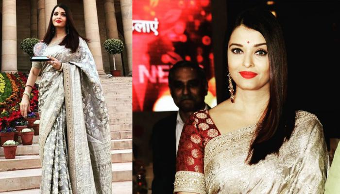 pics: aishwarya rai bachchan receives first ladies award in delhi