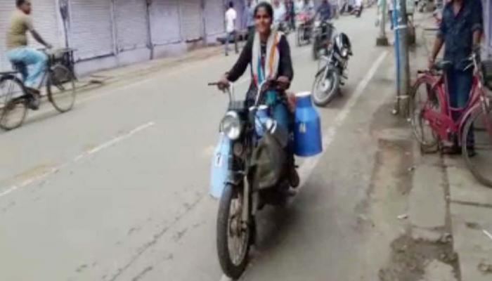 अपना सपना पूरा करने की जिद में पिछले 8 सालों से दूध बेच रही है 19 साल की लड़की