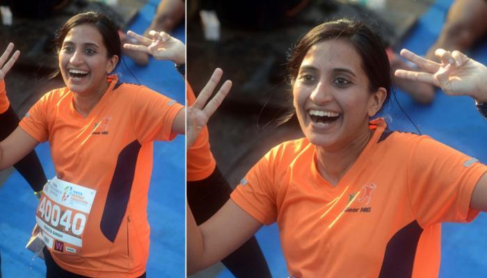 Tata Mumbai Marathon, A pregnant lady, highlights issues of women