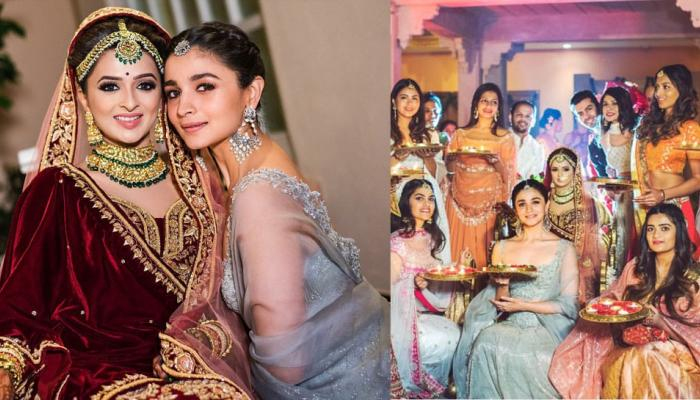 Alia Bhatt welcomes the baarat at her best friend wedding