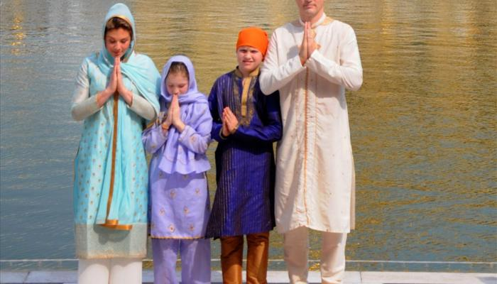 Canadian prime minister Justin Trudeau visit golden temple in Amritsar