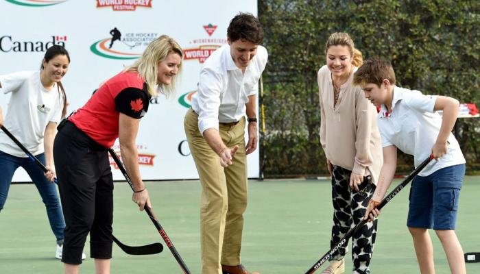 PM of Canada Justin Trudeau cheered Inidan womens Ice Hockey Team