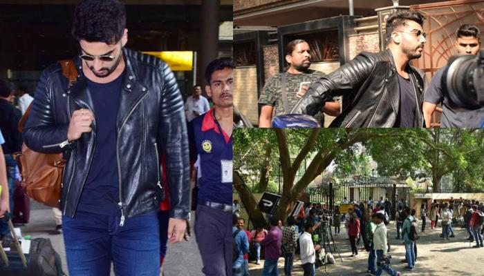 Arjun Kapoor arrives at Anil's house