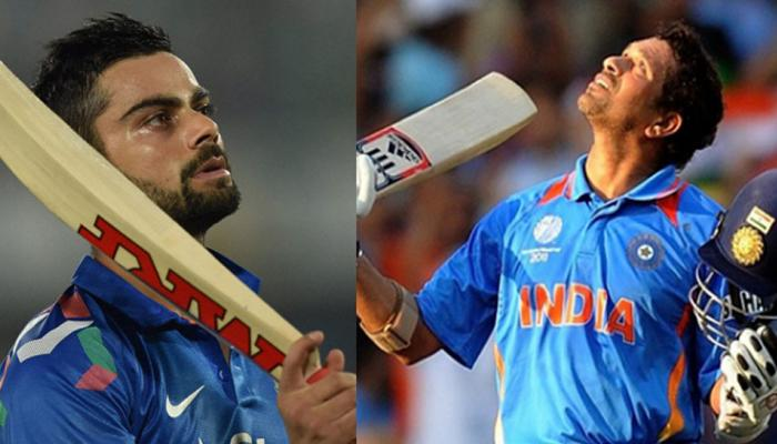 Today Sachin tendulkar made his hundredth ton, Know how much Virat kohli is lagging behind