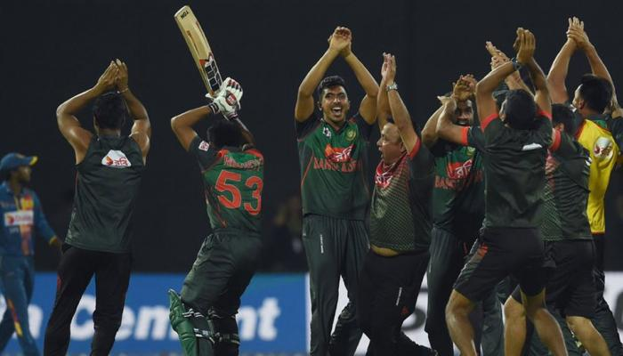 when Banladeshi Players surprised everyone with Nagin Dance after defeating Sri Lanka