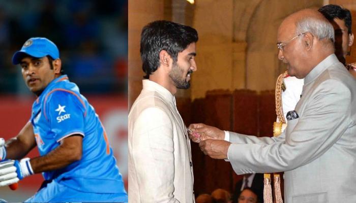 धोनी और पंकज को पद्मभूषण, चार खिलाड़ियों को पद्म पुरस्कार दिए राष्ट्रपति ने