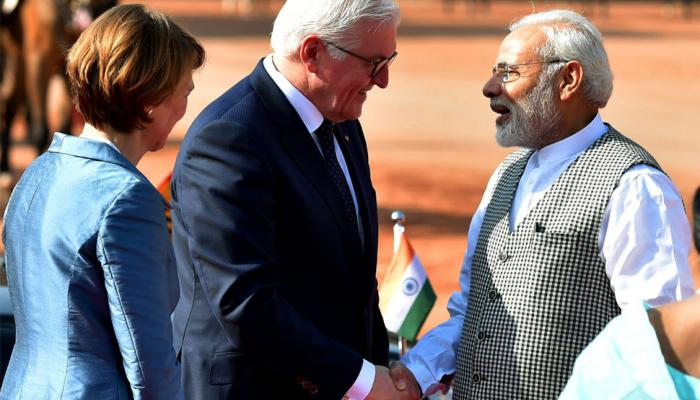President of Germany met Ram Nath Kovind and pm modi