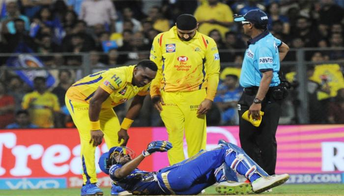 Hardik Pandya injury in IPL 2018 First match, Mumbai vs Chennai