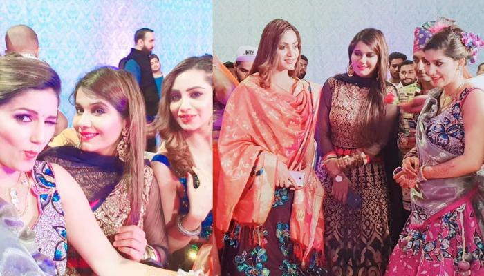 pics: bigg boss contestants attended sapna choudhary's brother marriage