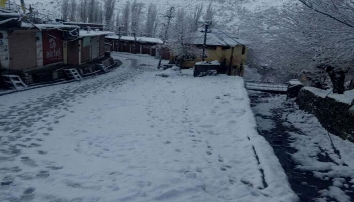 snowfall in Himachal Pradesh eylong in Lahaul-Spiti